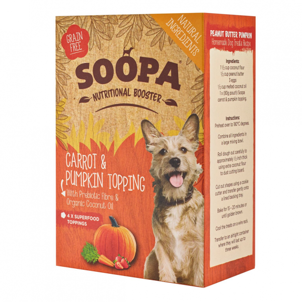 Soopa Carrot & Pumpkin Topping 4x80g