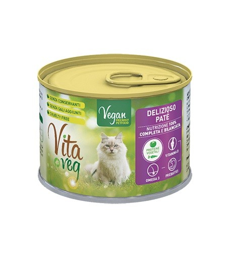 VitaVeg Vegan Cat Food Pate 185g