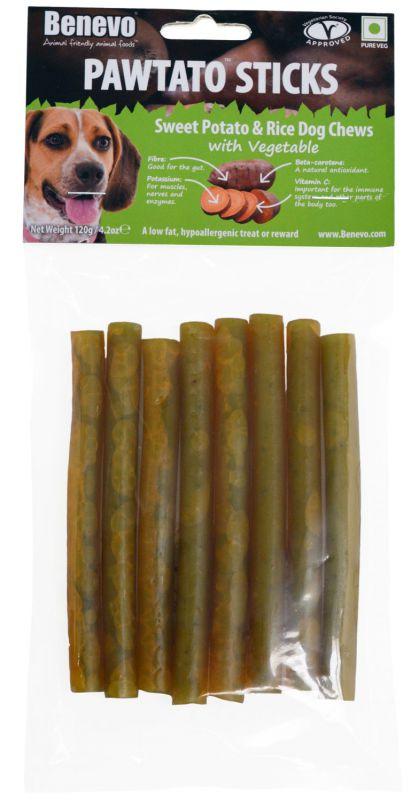 Benevo Pawtato Sticks Vegetable 120g
