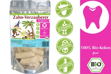 Zwergnase Zahn-Verzauberer Bio-Kokos (ca. 16 Stk.) 200g