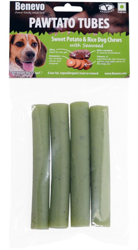Benevo Pawtato Tubes Seaweed 120g