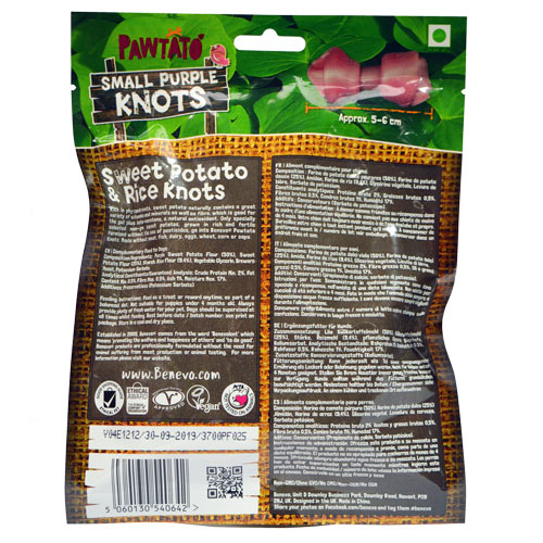 Benevo Pawtato Purple Knots Small 150g
