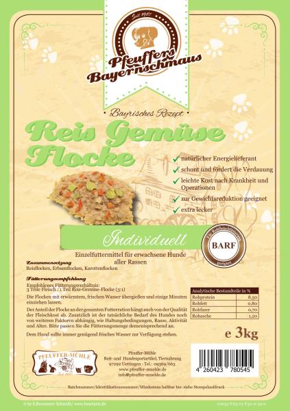 Pfeuffers Reis-Gemüse-Flocke 3kg