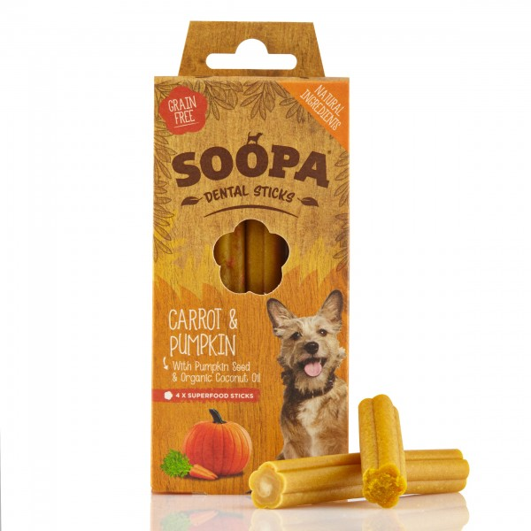 Soopa Carrot & Pumpkin Sticks 100g